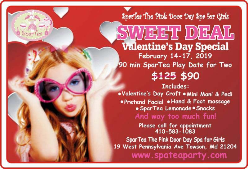 Poster for Valentine's Day Sweet Deal at SparTea